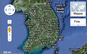 Corea del Sud Google Maps